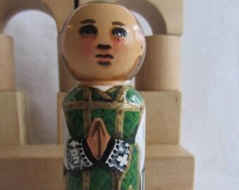 "Priest Peg Doll Large 3.5"" size"