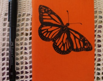 Monarch Butterfly - Hand Illustrated Pocket Sketchbook / Notebook / Journal