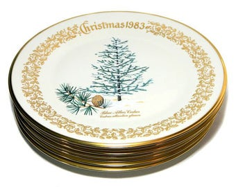 choice of lenox christmas plates evergreen trees 1978 1983