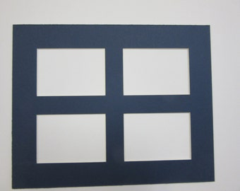 3eaf65361e1 Picture Frame Mats 8x10 for ACEO and sports cards 2.5x3.5 card 4 openings  choose color
