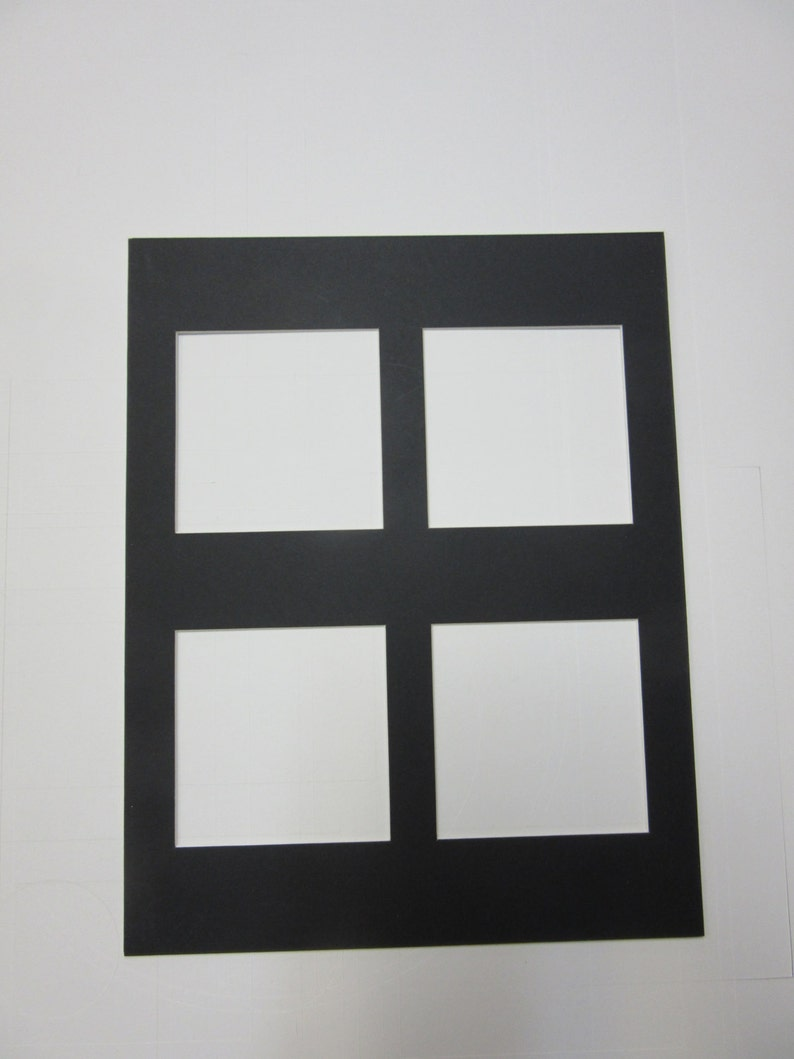 3aaead865c2 Picture Frame Mats 11X14 multi opening mat with 4 openings