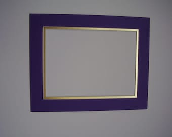 Picture Mats  Mats shown in Purple with Shiny Gold  11x14 for 8.5 x11  OTHER COLORS available
