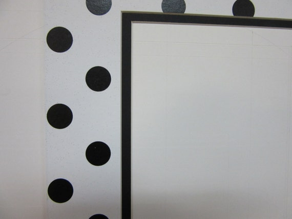 Picture Framing Mat Polka Dot White And Black 8x10 For 5x7 Etsy
