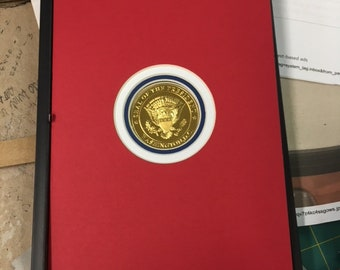 Picture Framing Mat  5x7 with circular opening for Challenge Coin  Red white and blue mat set of 30