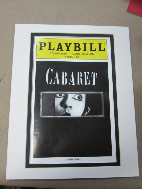 Picture Mat For Playbill White With Black Liner 8x10