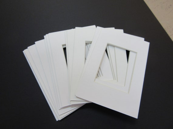 Picture Frame Mats Set Of 6 4x6 For Aceo 25x35 Card White Etsy