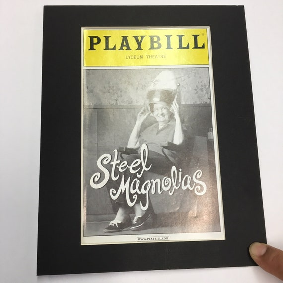 Picture Framing Mat for Playbill fits 8x10 Frame White with Black SET of 6