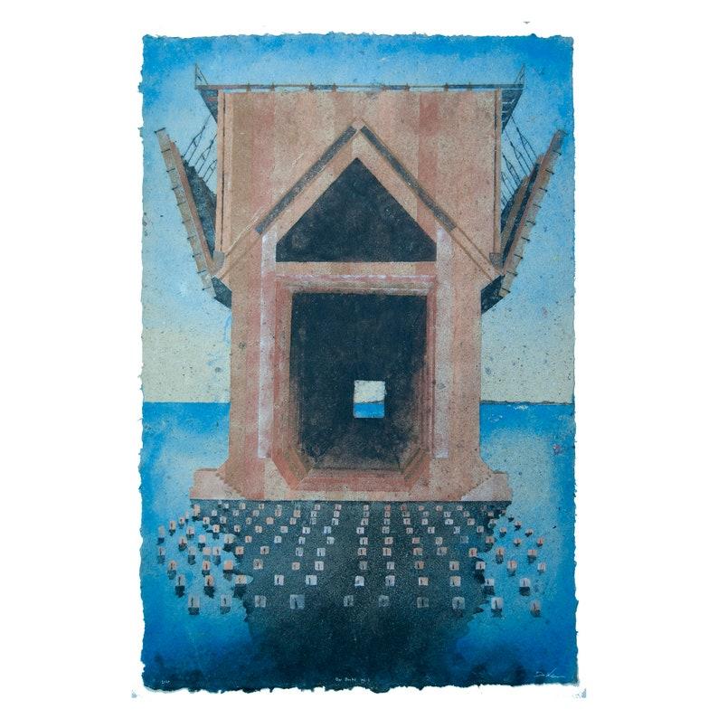 Ore Dock No. 1 Marquette Michigan: Handmade Pigmented Paper image 0