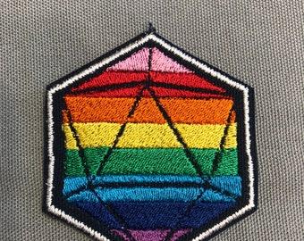 Pride Rainbow D20 patch