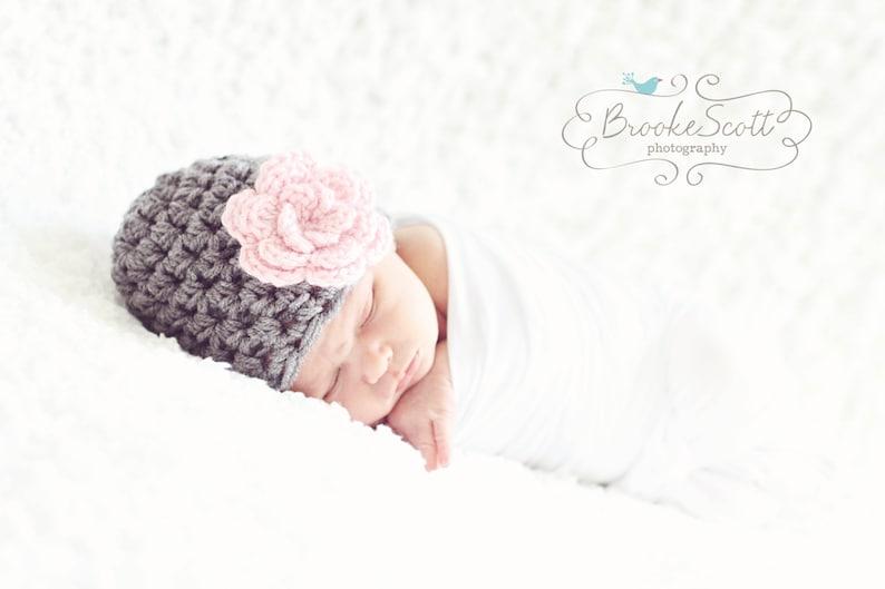 05cbc1e9027 Baby Girl Hat   Crochet Baby Hat   Baby Girl Beanie   Newborn