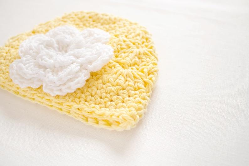 Crochet Baby Hat  Newborn Girl Hat  Yellow Hat  Baby Beanie Hat  Baby Shower Gift Girl  Hats For Babies  Newborn Beanie Girl