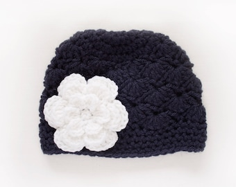 Girls Hat / Crochet Baby Hat / Hats For Girls / Girls Winter Hat / Girls Beanie / Baby Girl Hat / Crochet Girls Hat / Toddler Crochet Hat