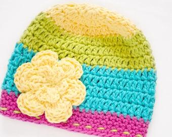 Rainbow Hat / Girls Hats / Crochet Hat / Baby Beanie / Hats For Girls / Toddler Hat / Baby Girl Hat / Baby Beanie Hat / Toddler Beanie