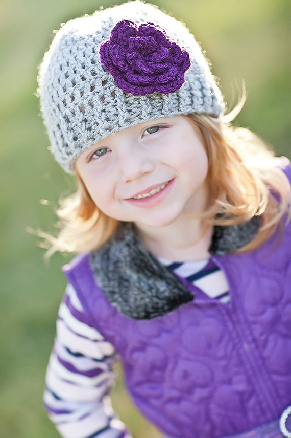 7baf499f924 Girls Winter Hat   Crochet Baby Hat   Girls Hat   Crochet