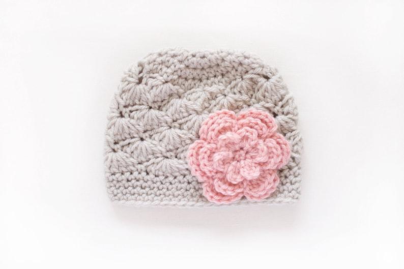 dfc8754b5a344d Newborn Girl Hat / Crochet Girls Hat / Girls Beanie / Baby | Etsy