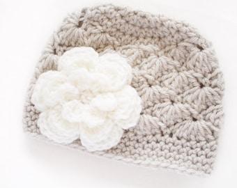 Baby Hat / Crochet Baby Hat / Baby Girl Hats / Newborn Girl Hat / Baby Shower Girl / Girls Crochet Hat / Newborn Hat / Crochet Girls Hat