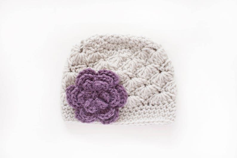 35ca07b7258 Newborn Girl Hat   Girls Winter Hat   Girls Beanie   Crochet