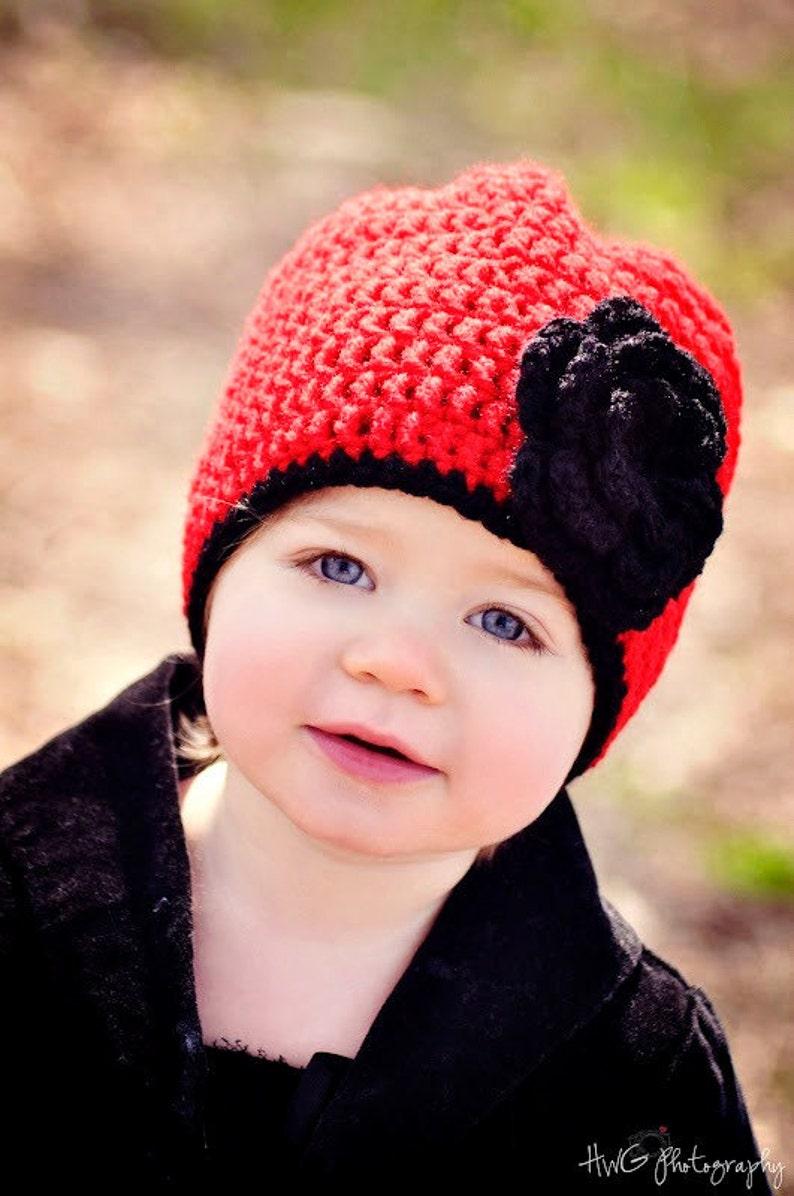 1365530f9 Girls Christmas Hat / Crochet Girls Hat / Girls Winter Hat / Crochet Baby  Hat / Toddler Girl Hat / Hats For Girls / Girls Beanie / Girls Hat