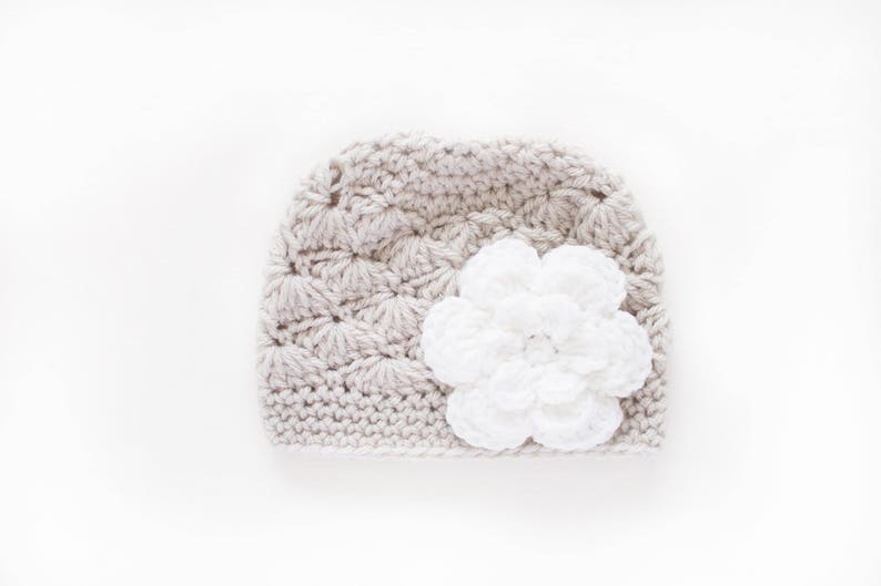 35b997f7d83 Newborn Girl Hat   Crochet Baby Hat   Girls Beanie   Girls