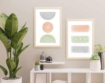 Abstract Printable Wall Art (Set) - Pastels - INSTANT DOWNLOAD | Modern | Minimalist | Home Decor
