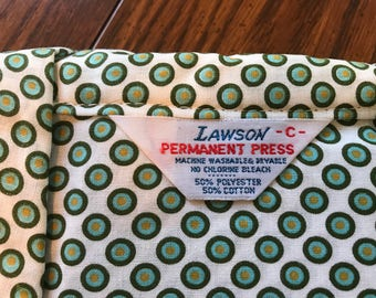 """Vintage Men's Lawson Print Pajamas Size C, 15 1/2 to 16 1/2 Shirt Size, 40 - 44"""" Chest, Weight 165 to 185 Lbs."""