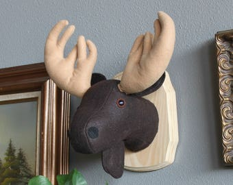Rustic Moose Faux Taxidermy Wall Mounted Head