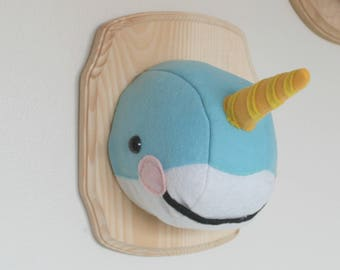 Narwhal Faux Taxidermy Sea Unicorn Wall Mount