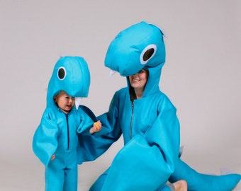 loch ness monster family nessie halloween costumes for mama or daddy and baby