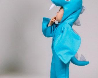 Baby or Child Custom Sized Loch Ness Sea Monster Dinosaur Halloween Nessie Costume