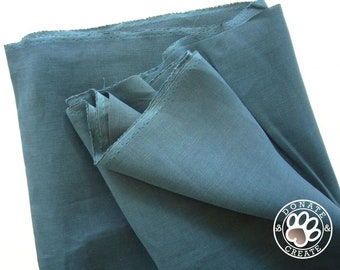 Linen fabric large off-cuts remnants! Pure linen fabric for clothing & DIY sewing, home decor; Silky smooth dark indigo blue linen flax;