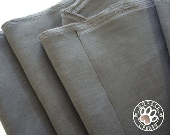 Linen fabric large off-cuts remnants! Pure linen fabric for clothing & DIY sewing, home decor; Silky smooth charcoal dar gray linen flax;