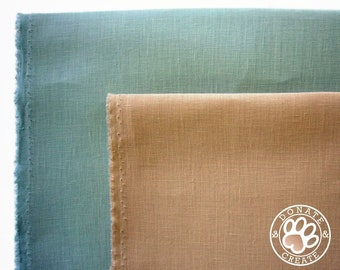 Linen fabric remnant Sale! x4 fat quarter pre-cuts for DIY crafts; Linen flax craft kit; Firm smooth high quality pure solid linen fabrics;