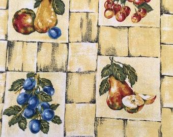 1950u0027s Barkcloth Kitchen Curtains   Campervan  Cottage