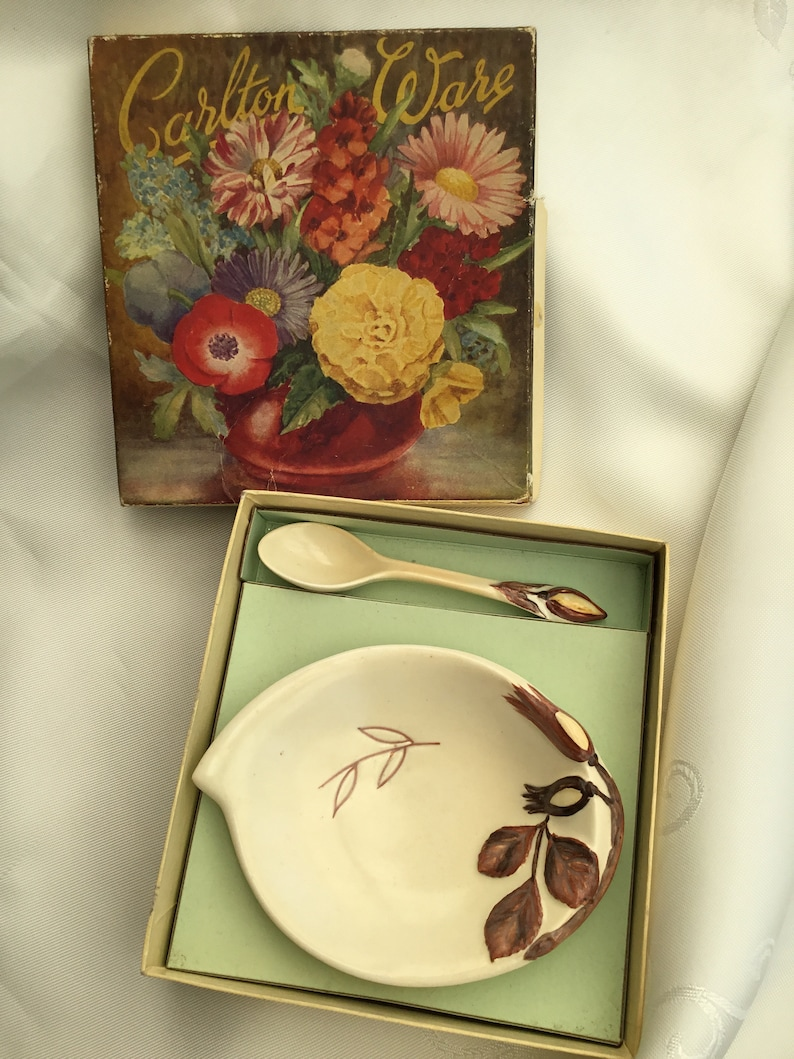 Vintage Carlton ware Australian design Dish and Spoon Boxed