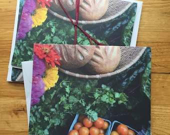 Colorful Farmers Market - Photo Notecard - Free Shipping