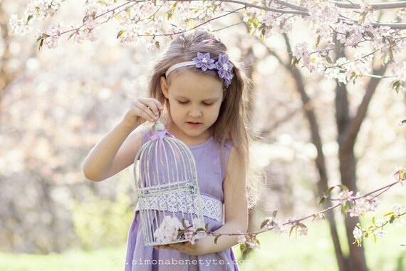 Lavender flower girl headband Girl headband Lilac kanzashi  82ec6a3a0e7