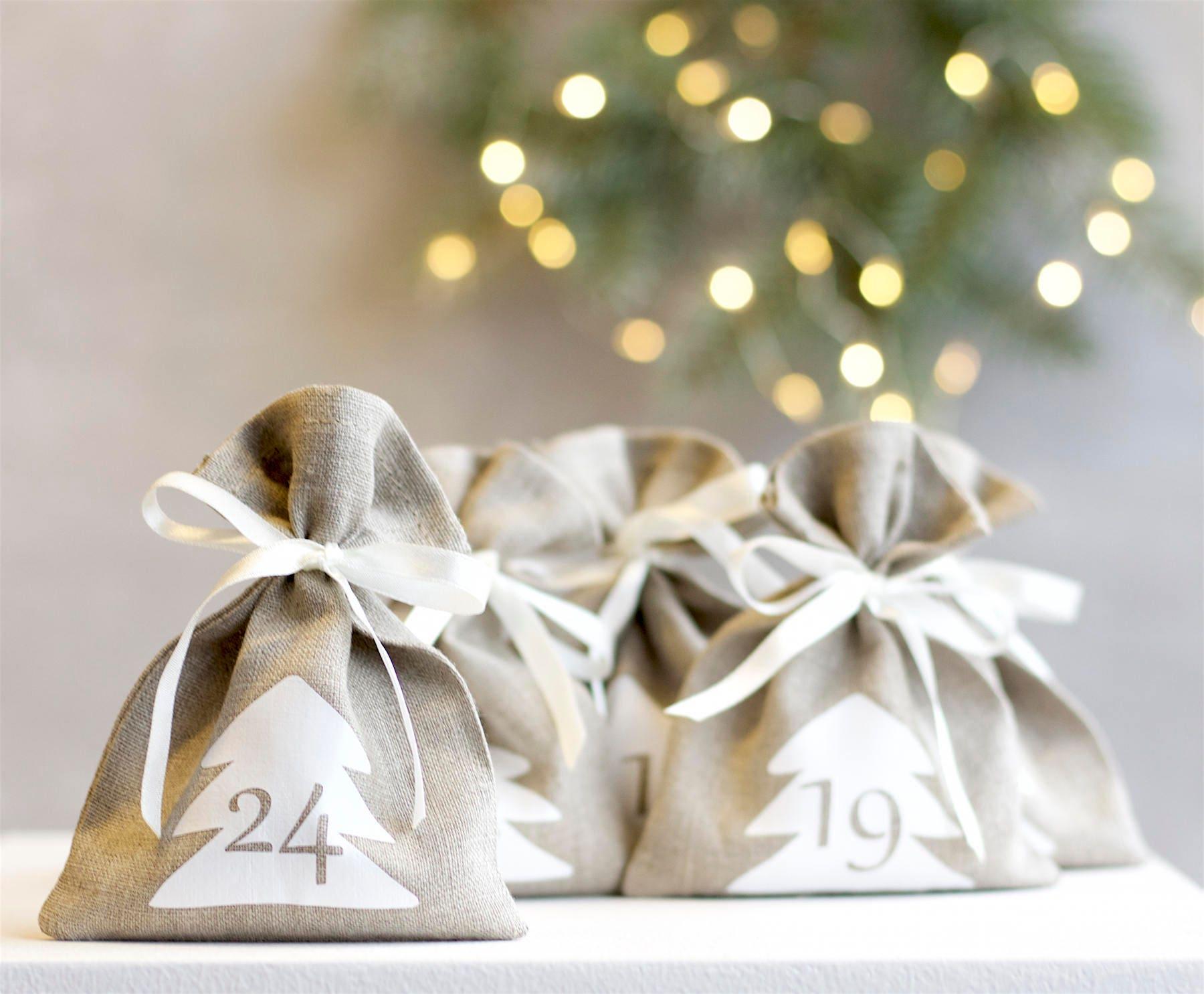 Christmas advent calendar bags Scandi advent calendar
