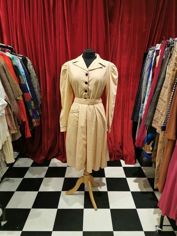 Vintage 1940s Beige Light Brown French Workwear F… - image 6