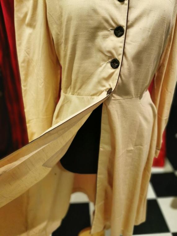 Vintage 1940s Beige Light Brown French Workwear F… - image 2
