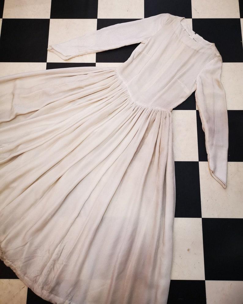 Vintage 1950s Velvet Fitted Bodice Full Skirt Dress image 0