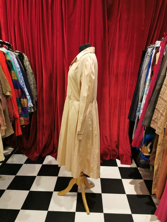 Vintage 1940s Beige Light Brown French Workwear F… - image 3