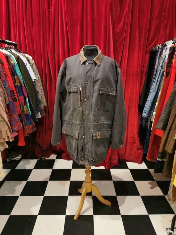 Vintage 1980s Distressed Carhartt Chore Workwear … - image 1
