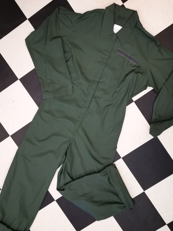 Unisex Khaki Green Vintage Military Boilersuit | British Army Coveralls |
