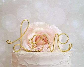 LOVE Wedding Cake Topper, Wedding Cake Decoration, Wedding Centerpiece, Bridal Shower Party, Anniversary Decoration, Engagement Decoration