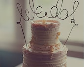 WE DO Rustic Wedding Cake Topper Banner, Rustic Cake Decoration, Rustic Centerpiece, Bridal Shower, Engagement Party