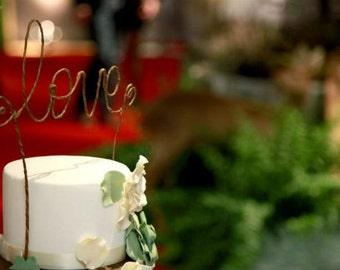 Rustic LOVE Wedding Cake Topper, Rustic Wedding Cake Decoration, Rustic Decoration, Wedding Centerpiece,Bridal Shower,Anniversary,Engagement
