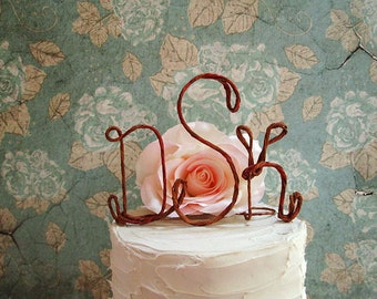 Monogram Wedding Cake Topper, Rustic Wedding Cake Topper, Wedding Cake Decoration, Rustic Wedding Centerpiece, Engagement Party Decoration