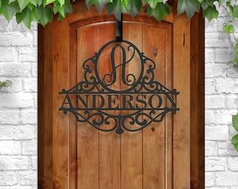 Classy Metal Name | Family Gift | Door Initial | Personalized Metal Sign