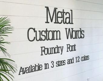 metal letters outdoor