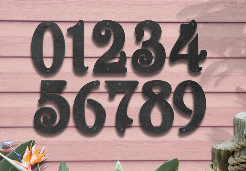 6 Metal Street Numbers Numbers for Business